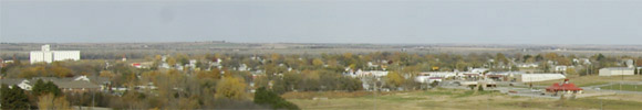 Photo of Concordia, Kansas from the hill.