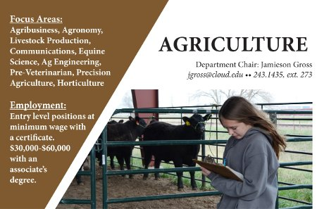 This is the graphic header for the Agriculture field of study page.