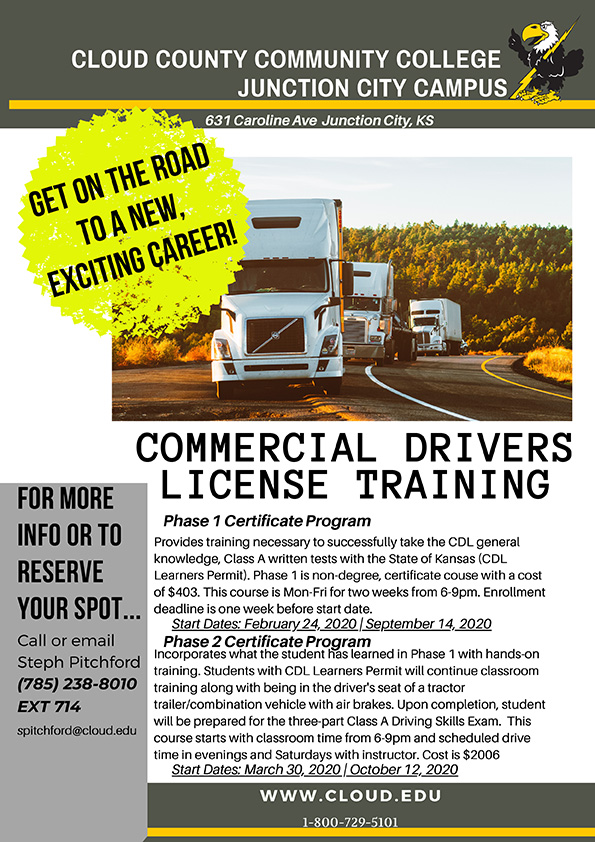 Information on how to obtain a CDL license.