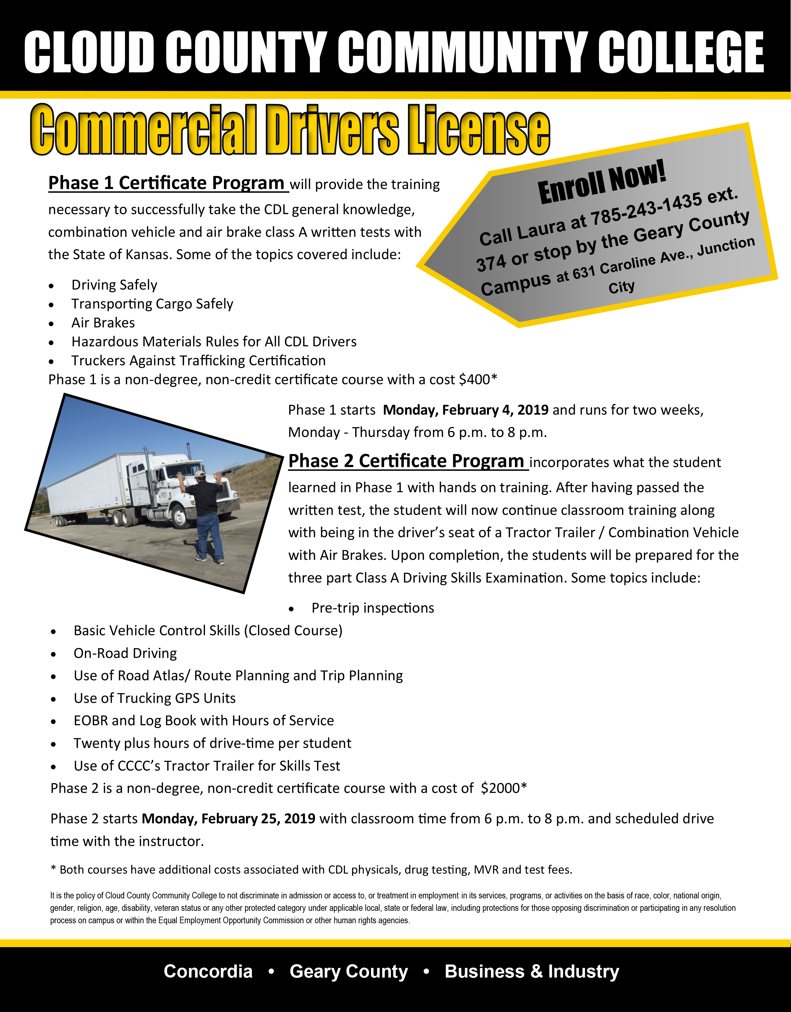 Learn more about the Winter 2019 CDL course