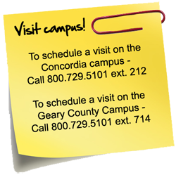 Visit campus sticky note
