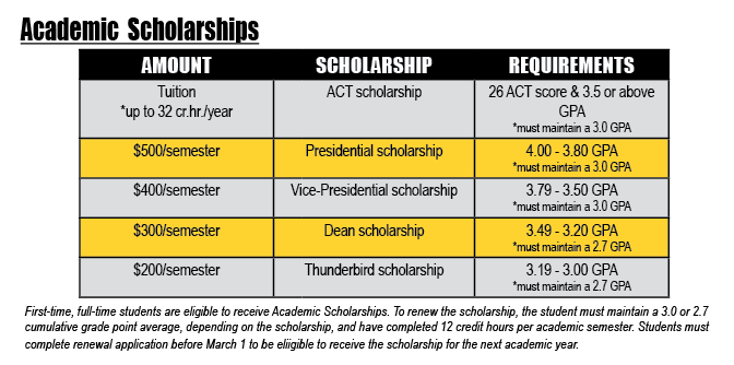 Academic Scholarships grid
