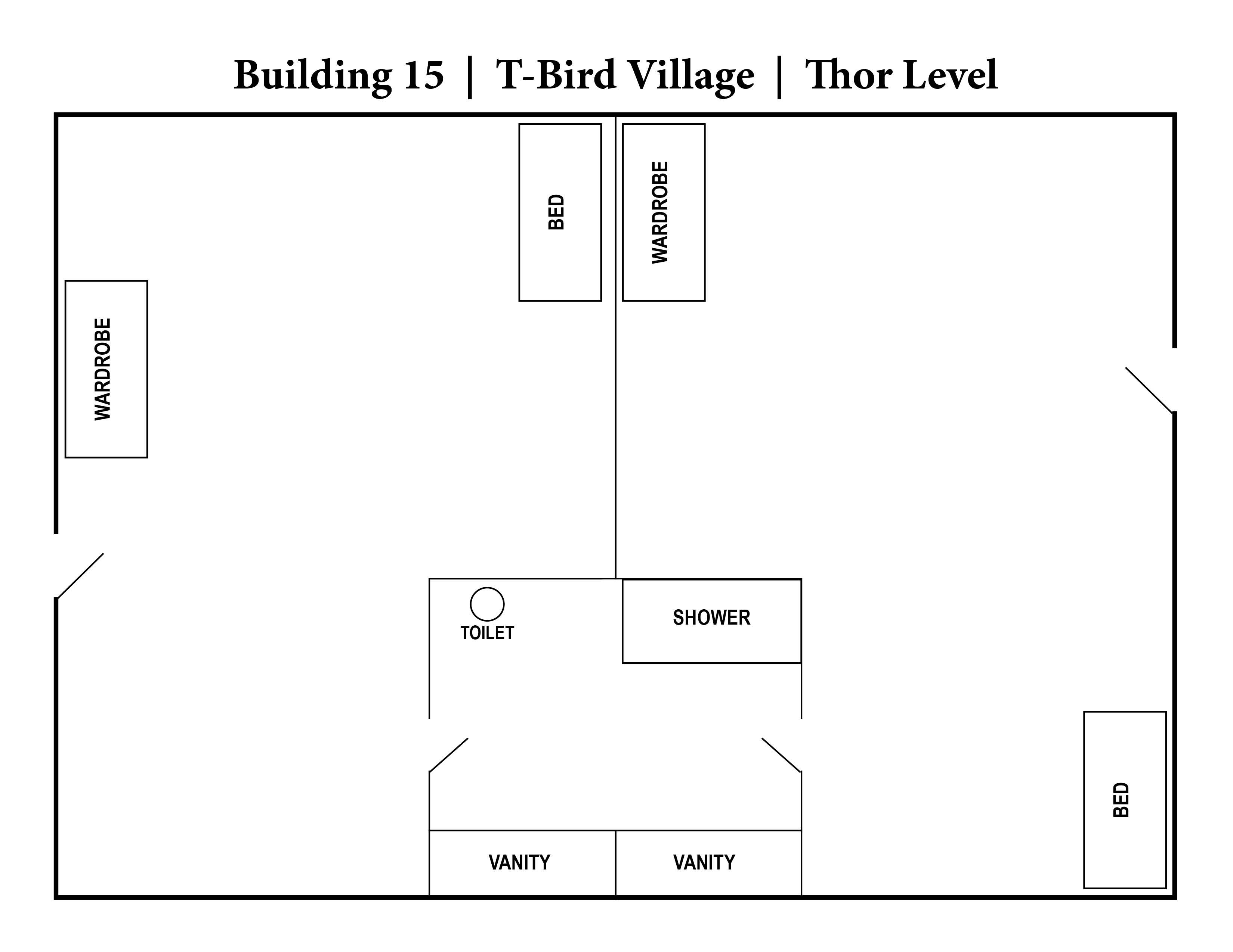 A photo of the layout of Building 15 - Thor level.