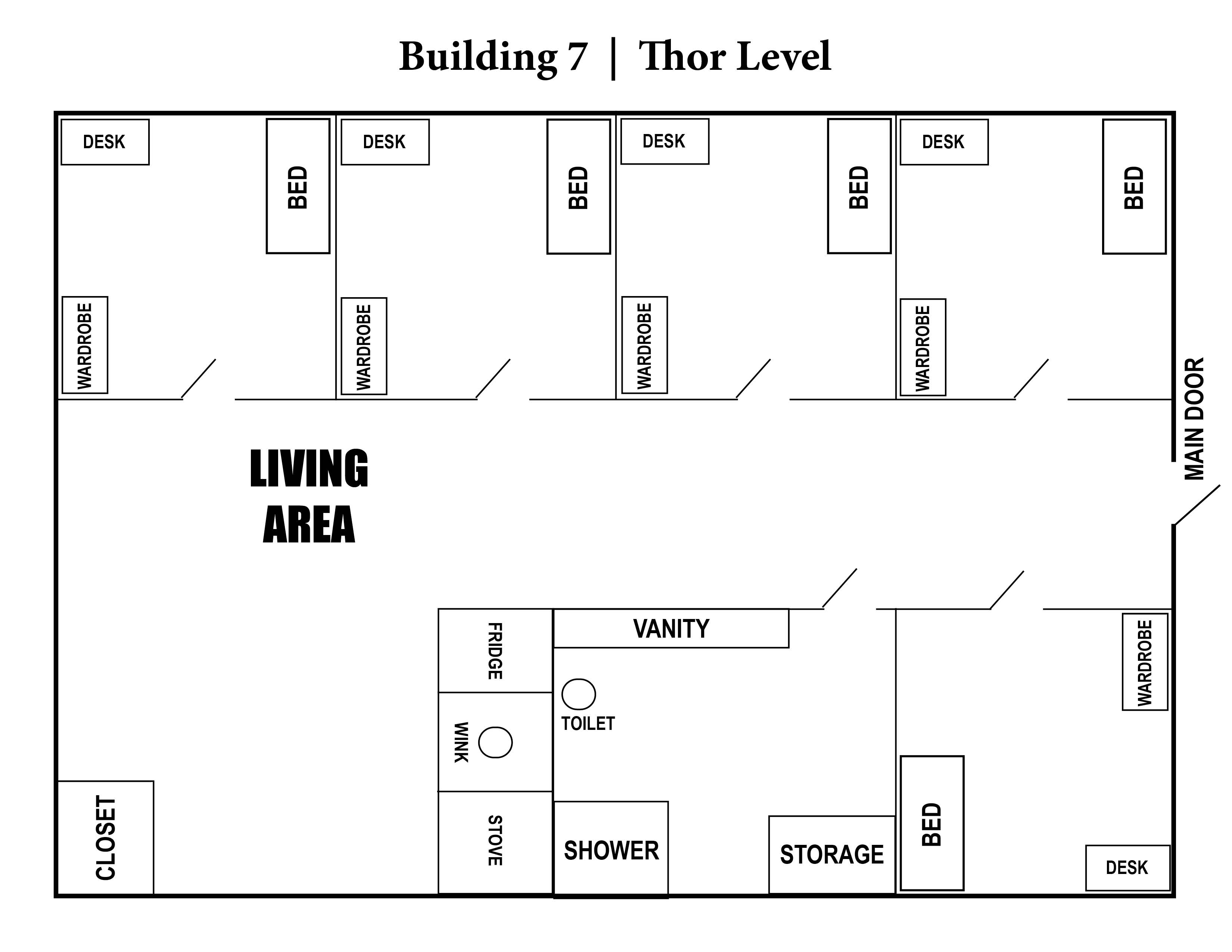 A photo of the layout of Building 7.