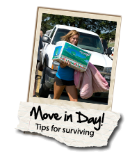 Move-In Day, tips for surviving.