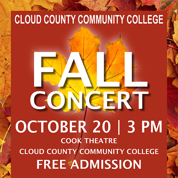Fall Music Concert will be October 20.