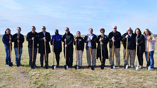 A photo of the CCCC ag facility groundbreaking.