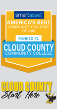 Cloud County Community College, ranked the #1 college in the country by smartasset.